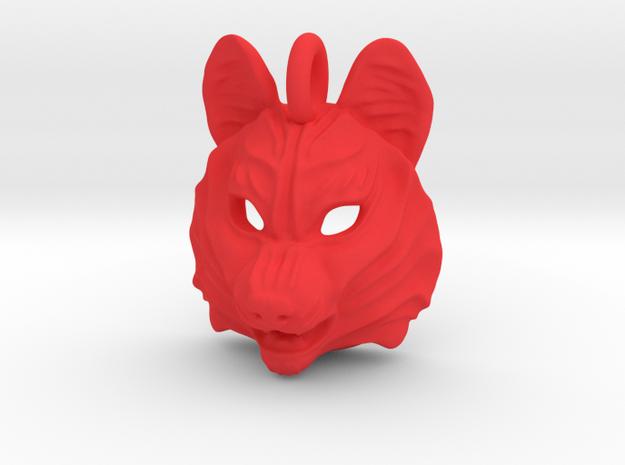 Plastic Husky Small Pendant in Red Processed Versatile Plastic