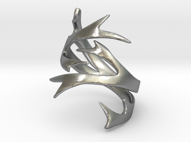 Antler Ring Size 7 in Natural Silver