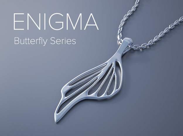Enigma Butterfly Series Pendant in White Natural Versatile Plastic