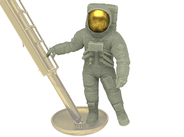 Neil Armstrong (small step) 1:6 in White Natural Versatile Plastic