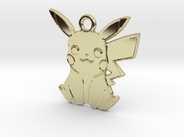 POKEMON Pikachu Pendant (Smaller) in 18k Gold Plated Brass