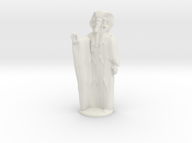 Ra in Robes with hand device - 20 mm in White Natural Versatile Plastic
