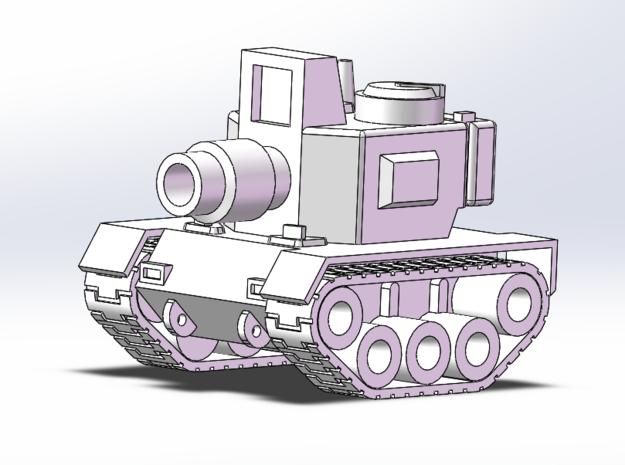 Cute Tank half size 3d printed
