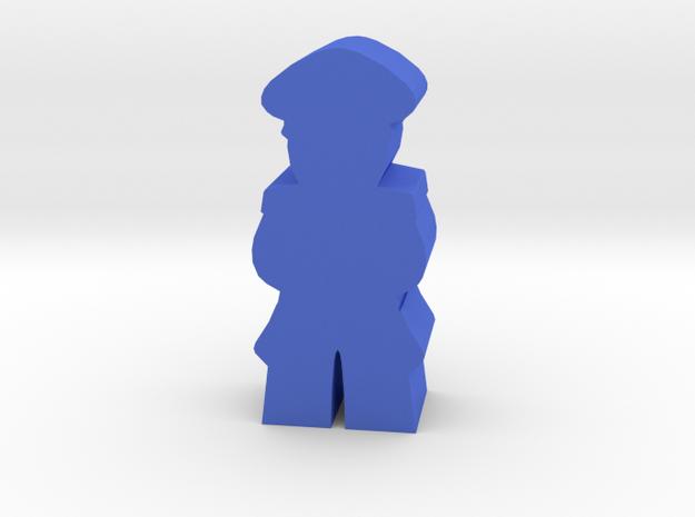 Game Piece, WW2 German Officer in Blue Processed Versatile Plastic
