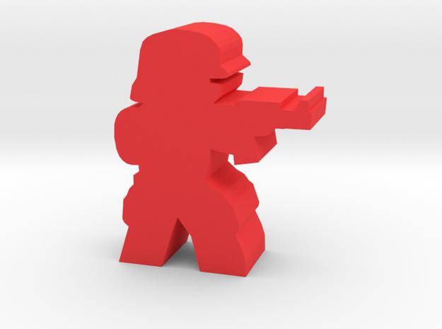 Game Piece, Imperium Shocktrooper in Red Processed Versatile Plastic