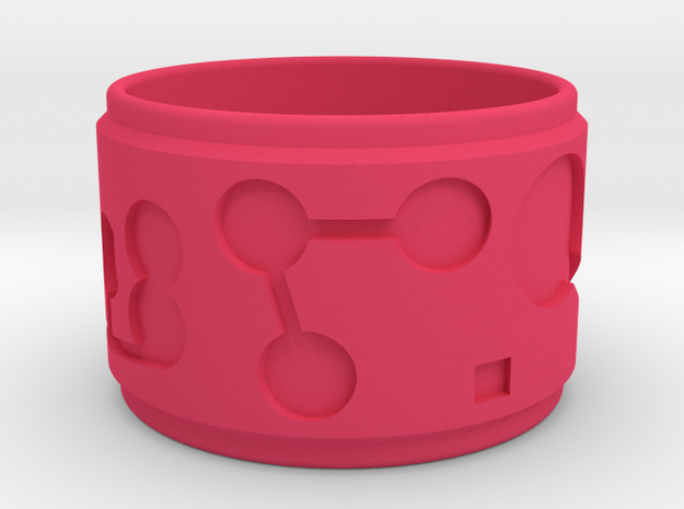 Pi Ring in Pink Strong & Flexible Polished