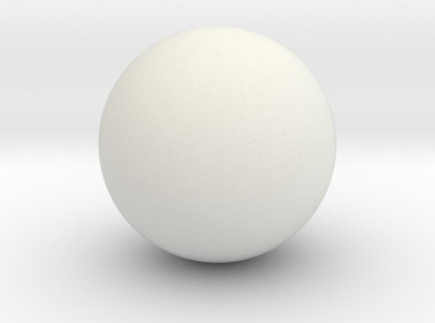 Hollow Sphere (6.5cm diameter) in White Natural Versatile Plastic
