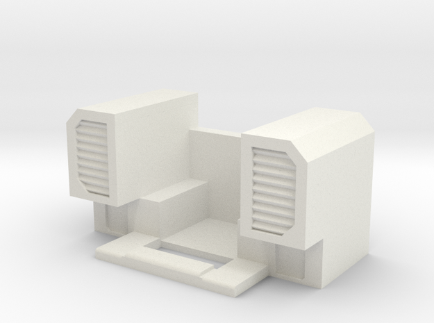 Menasor Shoulder Vents in White Natural Versatile Plastic