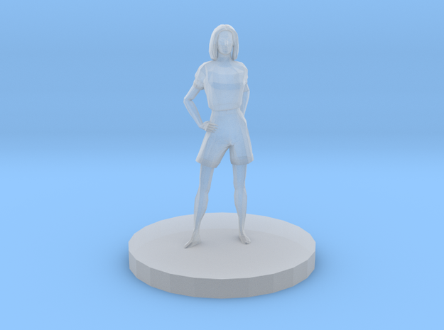 Woman With Hands At Hips in Smooth Fine Detail Plastic