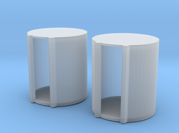 1 64 1000 Gallon Fuel Barrels X 2 in Frosted Ultra Detail