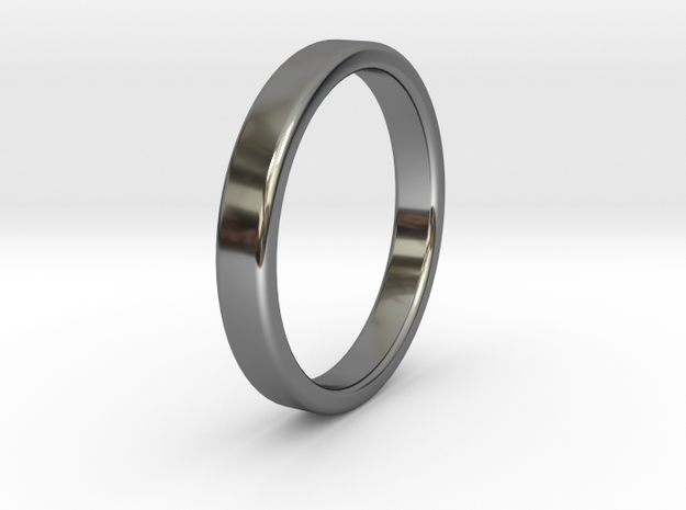 Summer 2016 Ring 022016 in Fine Detail Polished Silver