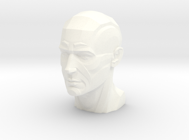 Male Planar Head in White Strong & Flexible Polished