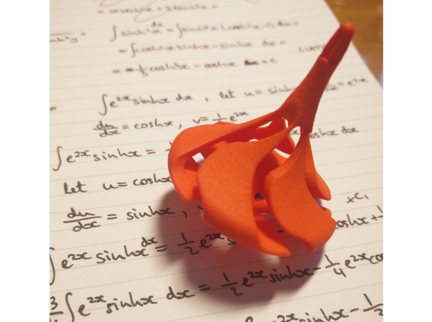 SUPERB Spinning Top in Orange Processed Versatile Plastic