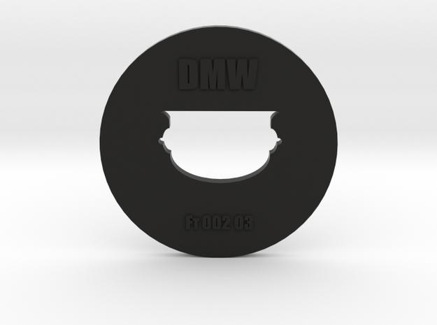 Clay Extruder Die: Footer 002 03 in Black Natural Versatile Plastic
