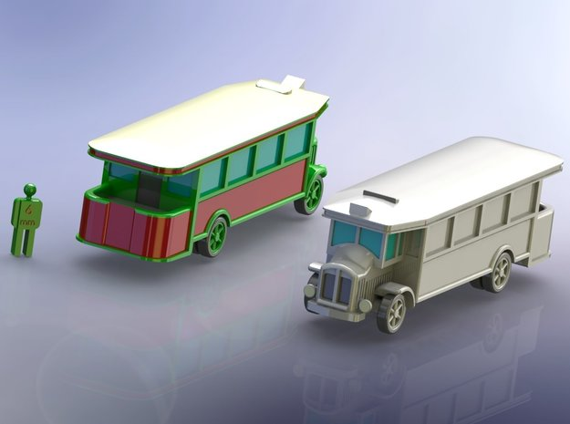French Renault TN-4C Bus 1/285