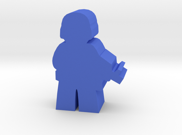 Game Piece, Blue Force Soldier in Blue Processed Versatile Plastic