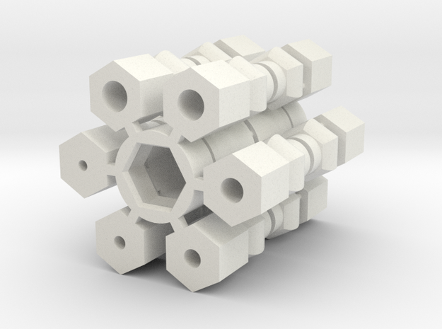 Universal Joint - Drive Shaft version in White Strong & Flexible