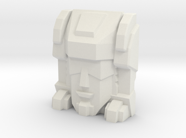 Trizor Faceplate (Titans Return) in White Natural Versatile Plastic