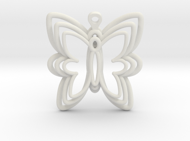 3D Printed Wired Butterfly Earrings  in White Strong & Flexible