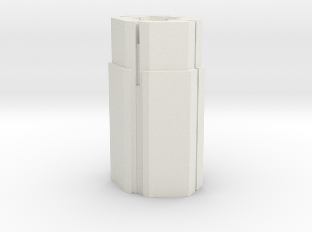 Custom Monopoly Hotel Version 5 (3cm tall) in White Natural Versatile Plastic