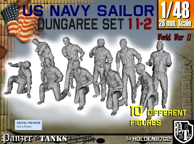 1-48 US Navy Dungaree Set 11-2