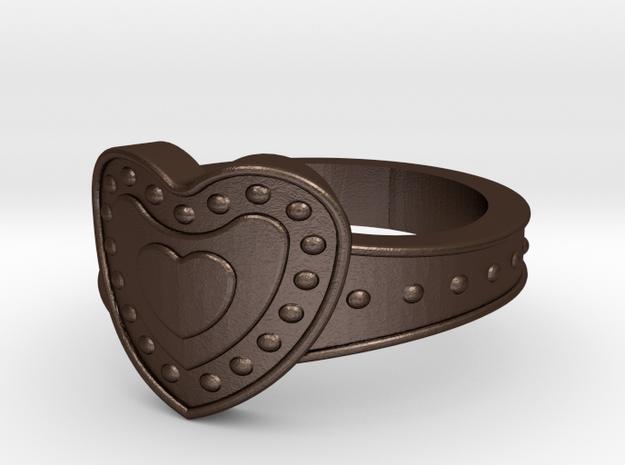 rings03 in Matte Bronze Steel