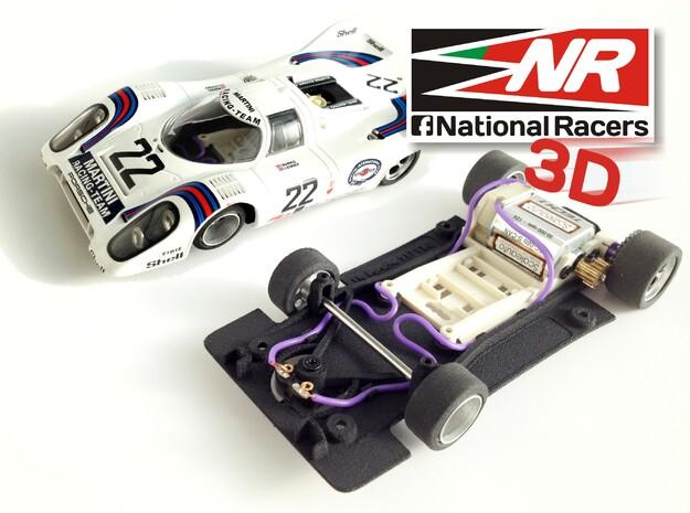 3D chassis - Fly Porsche 917 K / 917 LH - (SW) - 1 in Black Natural Versatile Plastic
