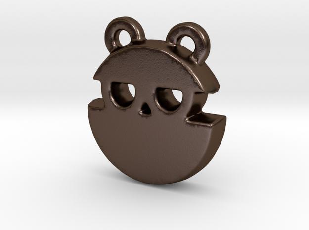 spy bear in Polished Bronze Steel