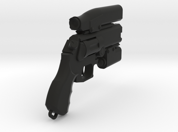 Miles Quaritch Wasp Revolver (Small Scale) in Black Natural Versatile Plastic