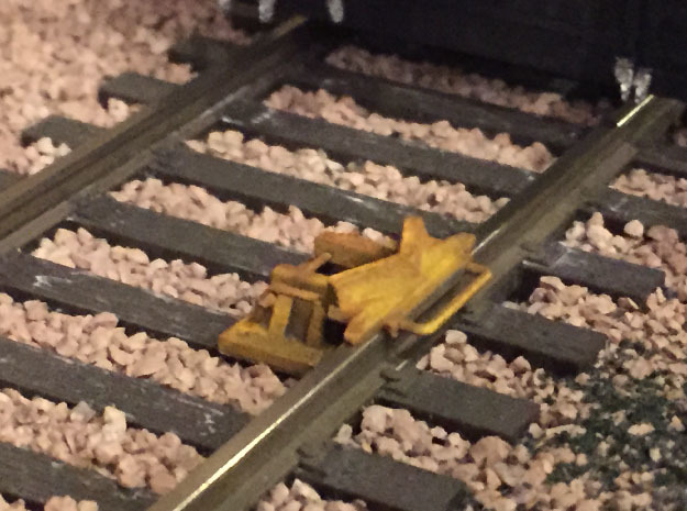 O Scale Derails (Flip-Type, Set of 4) in Smooth Fine Detail Plastic