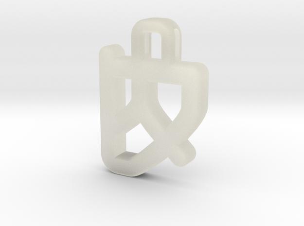 Darwen Heart lock Pendents XL in Transparent Acrylic