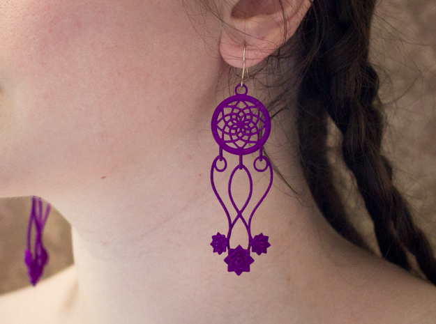 Lotus Dream Catcher Earrings