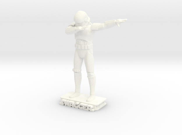 Dabbing Storm Trooper in White Strong & Flexible Polished