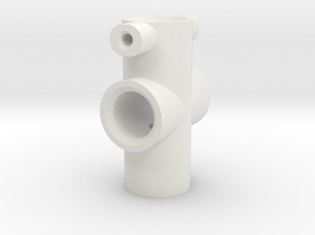 100mm Eye Centre Shaft  in White Natural Versatile Plastic