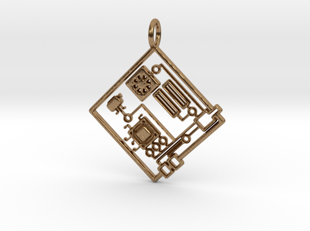 Circuit 1.0 Pendant in Natural Brass