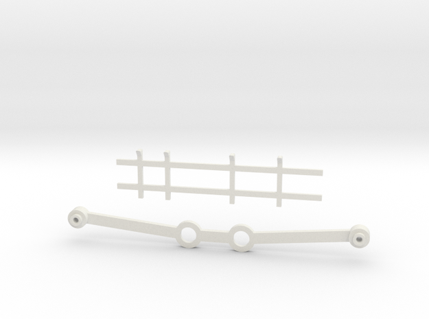 Atari Jaguar White Case Kit - Internal Brace + Rib in White Natural Versatile Plastic