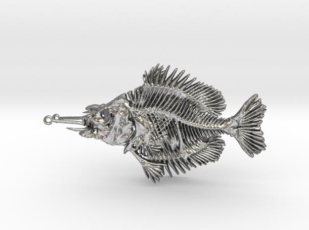 Bluegill fish skeleton earring pair