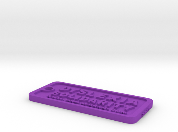 Tag-D-4 in Purple Processed Versatile Plastic