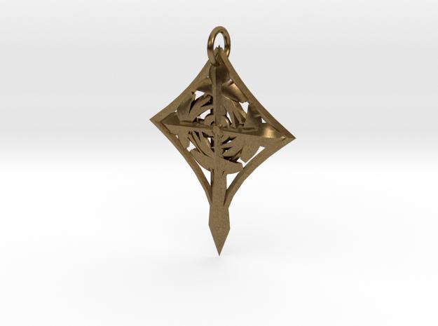 Cross Pendant in Raw Bronze