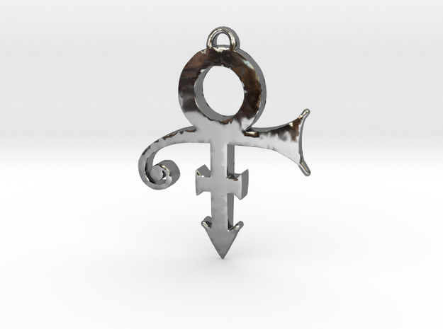 Prince Love Symbol Pendant (Small) in Fine Detail Polished Silver