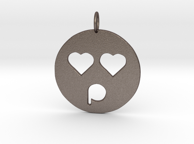 lovely face in Polished Bronzed Silver Steel