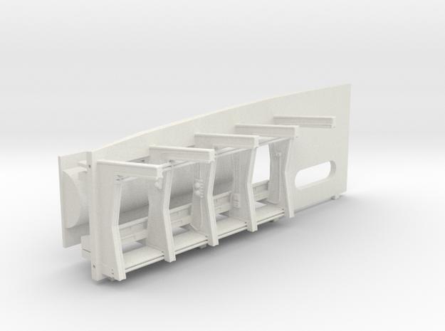 ESB/TFA Front Wall w/Frames for DeAgo Falcon in White Natural Versatile Plastic
