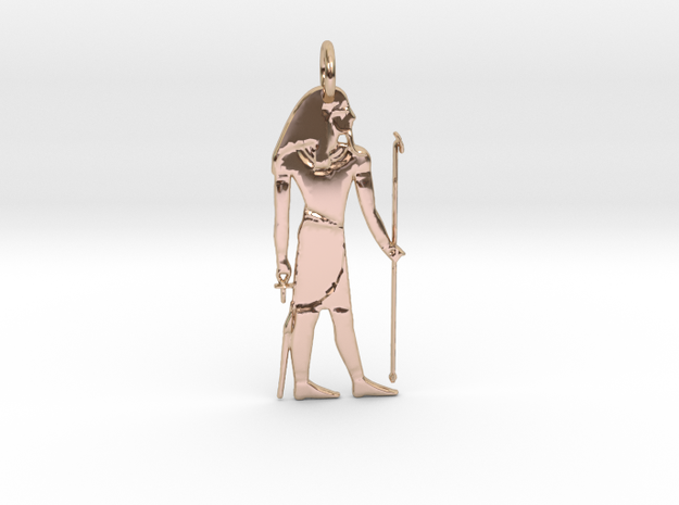 Atum Pendant in 14k Rose Gold Plated Brass