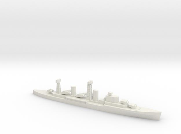 PLAN Chong Qing Missile Cruiser, 1/1800 in White Natural Versatile Plastic