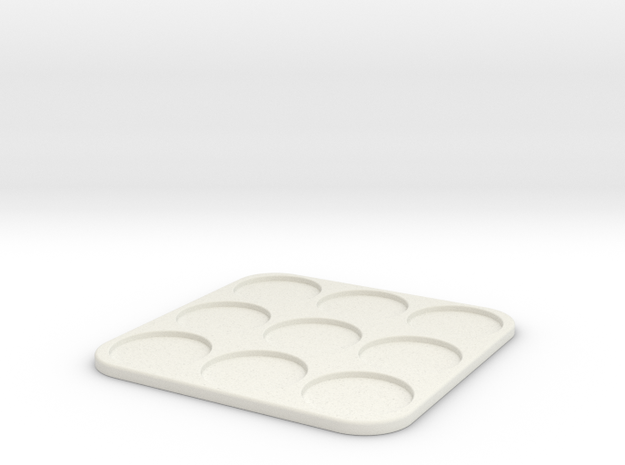 105 mm movement tray w/ 31 mm holes. in White Strong & Flexible