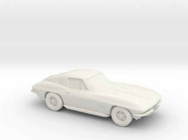 1/96 1963 Corvette Stingray in White Natural Versatile Plastic