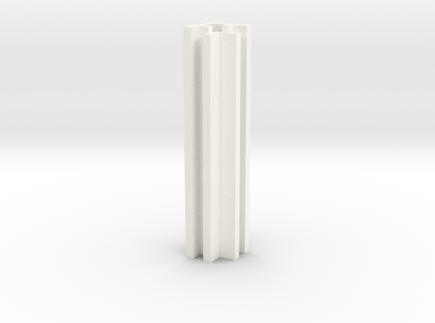 Set-1 Wall Connector - Inside Corner in White Processed Versatile Plastic