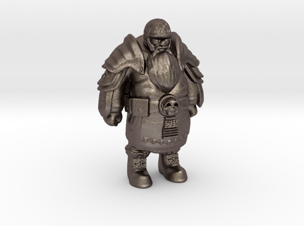 Dwarf-Warrior-13cm  in Polished Bronzed Silver Steel