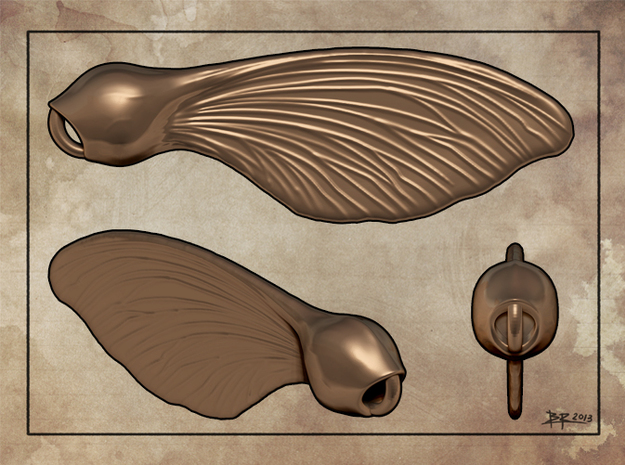 Whirlygig Seed pods in Natural Bronze
