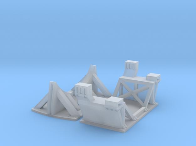 1/87 Boeing Fuselage Cradles for flatcar in Smooth Fine Detail Plastic